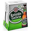 Cerveza pilsen Pack de 6x250 ml Estrella Galicia