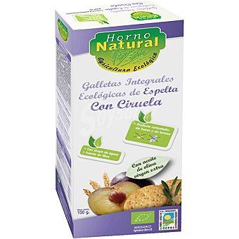 Horno natural Galletas integrales de espelta con ciruela sin lactosa ecológicas Envase 100 g