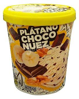 Hacendado Helado bote plátano chocolate y nuez Bote de 500 ml