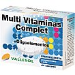 Multi Vitaminas Complet con Oligoelementos que refuerzan tu organismo sin azucares caja 24 comprimidos efervescentes 24 comprimidos VALLESOL