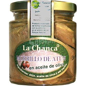 LA CHANCA Morrillo de atun en aceite de oliva Tarro 150 g neto escurrido