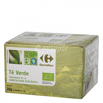 Carrefour Bio Té verde en bolsitas ecológico 20 ud 20 ud