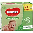 Toallitas natural care Pack 2+1 uds Huggies
