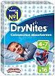 Calzoncillos absorventes niño 4-7 años Paquete 16 uds Dry Nites