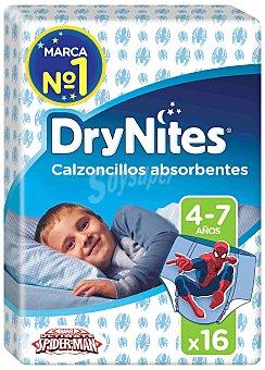 Dry Nites Calzoncillos absorventes niño 4-7 años Paquete 16 uds
