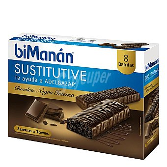 Bimanan Barritas de chocolate intenso 8 ud