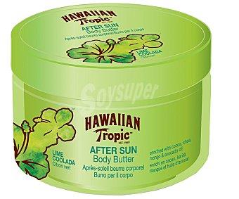 Hawaiian Tropic Crema corporal after sun, fragancia coco y lima colada 400 mililitros
