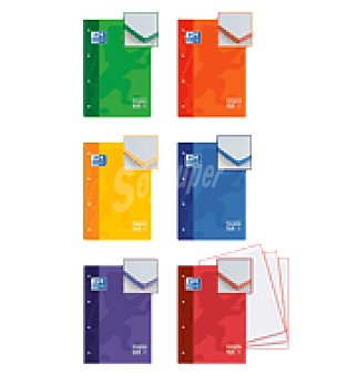 Oxford Cuaderno microperforado A4 80H cuadricula 5 recuadro color t.extra. oxford