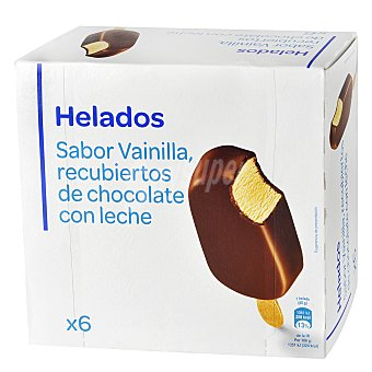 Carrefour Helado chocolate con leche 6 ud