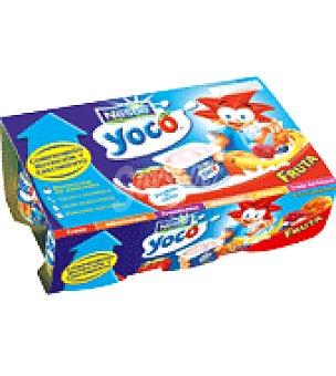 Nestlé Yogur con frutas sin trozos Pack de 6x100 g