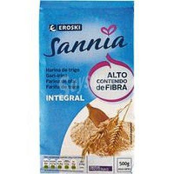 Eroski Sannia Harina de trigo integral Paquete 500 g