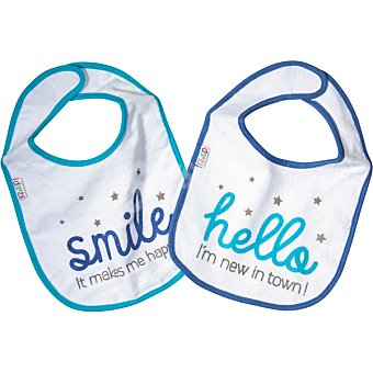Dombi Set 2 baberos Hello & Smile