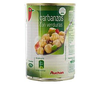 Auchan Garbanzos con verduras 440 gramos