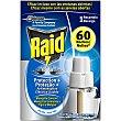 Insecticida volador eléctrico líquido antimosquitos comunes y tigre 60 noches caja 1 recambio  Raid