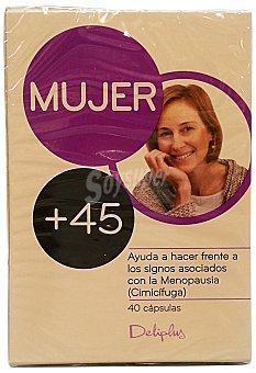 DELIPLUS Cápsulas mujer +45 años (prevenir osteoporosis, sofocos y calores) Caja de 40 unidades