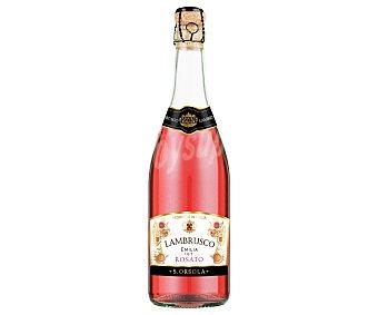 Sant orsola Vino rosado italiano tipo lambrusco con IGT Emilia rosato Botella de 75 cl