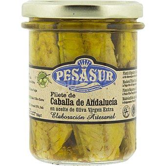 Pesasur Caballa de Andalucía en aceite de oliva virgen extra ecológico de elaboración artesanal frasco 145 g frasco 145 g