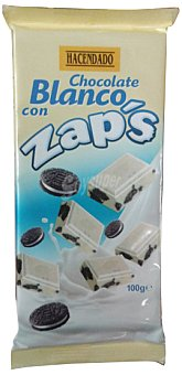 Hacendado Chocolate blanco con galletas zaps Tableta 100 g