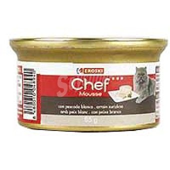 Eroski Mousse de pescado blanco Lata 85 g