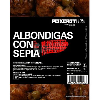 PEIXEROT Albóndigas con sepia Estuche 350 g