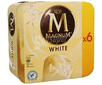 Frigo Magnum Helado de vainilla recubierto de chocolate blanco  Pack 6 u x 110 ml
