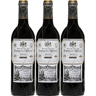Marqués de Riscal Vino tinto reserva Estuche 3 botellas 75 cl