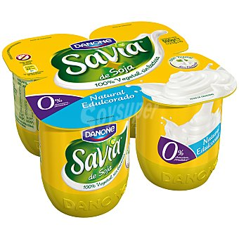 Savia Danone Yogur Natural Pack 4 Unidades de 125 Gramos