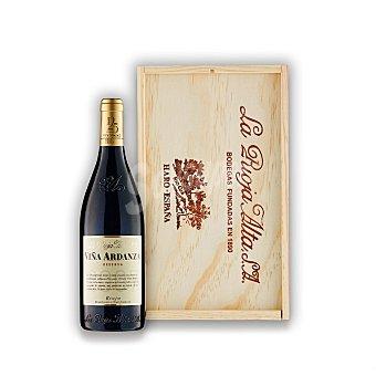 """Viña Ardanza Lote 67: Caja de madera con 2 botellas de vino D.O. Ca. """"rioja"""" tinto reserva Pack 2x75 cl"""