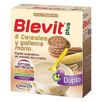 BLEVIT Plus Papilla instantánea 8 cereales y galletas 600 Gramos