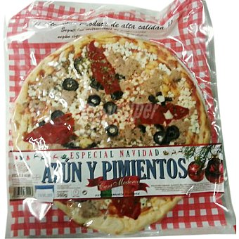 CASA MODENA pizza fresca de atún y pimientos envase 360 g