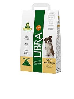 LIBRA Pienso para perros cachorros pequeños, medianos y grandes pollo y arroz 3 Kg