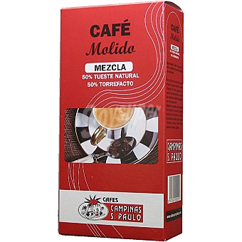 SAO PAULO Café molido mezcla 50-50 Paquete 250 g