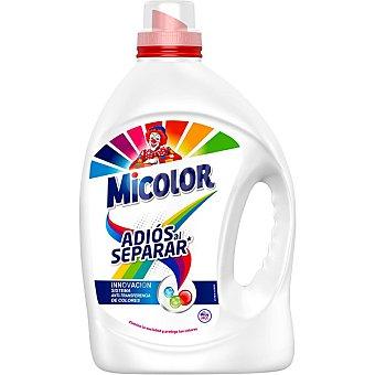 Micolor Detergente máquina líquido gel anti-transferencia de colores adiós al separar botella 40 dosis Botella 40 dosis