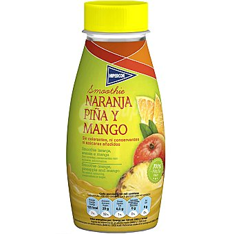 Hipercor Smoothie de naranja, piña y mango envase 250 ml Envase 250 ml