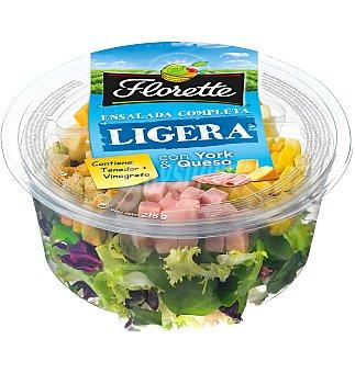 Florette Ensalada Completa Ensalada ligera con Jamón York y Queso 215 gr