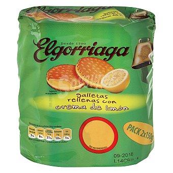 Elgorriaga Galletas rellenas de crema de limón Pack de 2 unidades de 150 g