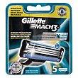 Recambio de maquinilla de afeitar 5 unidades Gillette Mach3