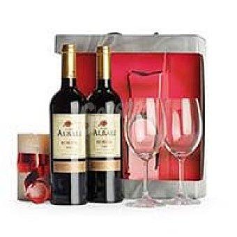 Viña Albali Vino Tinto Reserva Valdepeñas Pack 2x75 cl + Copas
