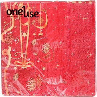 ONEUSE Servilletas decorado navidadeño diferentes motivos 2 capas 33x33 cm Paquete 20 unidades