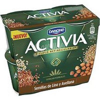 Activia Danone Bífidus de lino-avellana pack 4x120 g