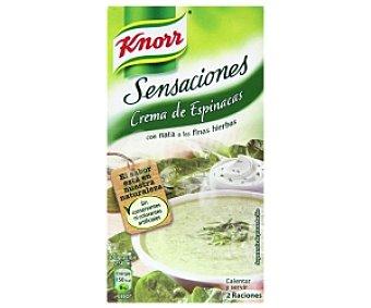 Knorr Crema de Espinacas con nata a las finas hierbas Sensaciones 500 mililitros