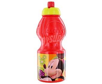 DISNEY Resistente botella deportiva pequeña, modelo Fruits, fabricada en polipropileno con ilustraciones de Mickey Mouse 1 Unidad