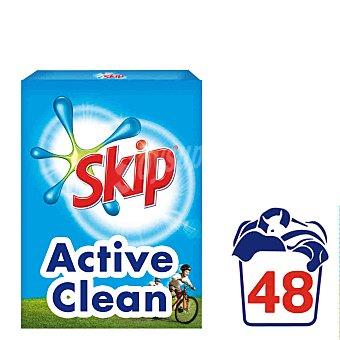 SKIP detergente máquina polvo Active Clean  maleta 48 cacitos