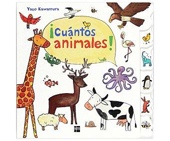 Editorial SM Libro ¡cuántos animales!, yayo kawamura. Género: infantil, preescolar. Editorial SM