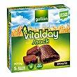 Snack brownie Vitalday Gullón sin aceite de palma Pack 5 unidades de 40,5 g Gullón