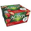 Yogur de fresa Pack de 4 unidades 125g Activia Danone