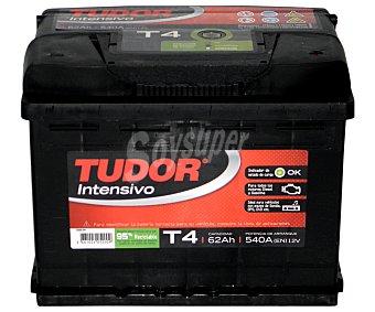 TUDOR Batería Modelo T4 12 Voltios 62Ah, Potencia de Arranque: 540 Amperios 1 unidad