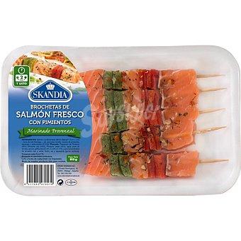 Skandia Brocheta de salmón fresco con pimientos Bandeja 160 g