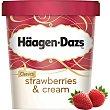 Helado de crema y fresa con trozos de fresa Strawberries & Cream Tarrina de 500 ml Häagen-Dazs