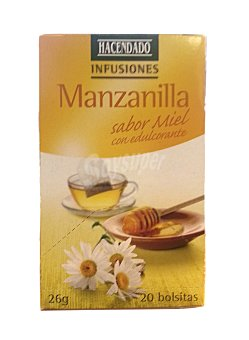 Hacendado Infusion manzanilla sabor miel con edulcorante 20 bolsitas - 26 g